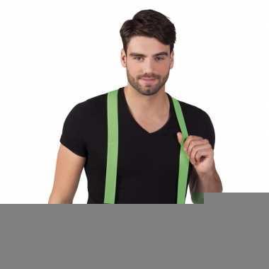 Gekleurde bretels neon groen