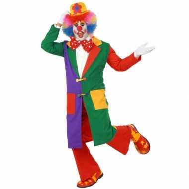 Gekleurde clown jas