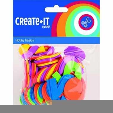 Gekleurde foam rubber cijfers 100 st