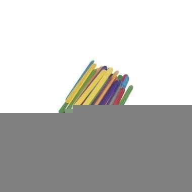 Gekleurde ijsstokjes 11 cm 288 st