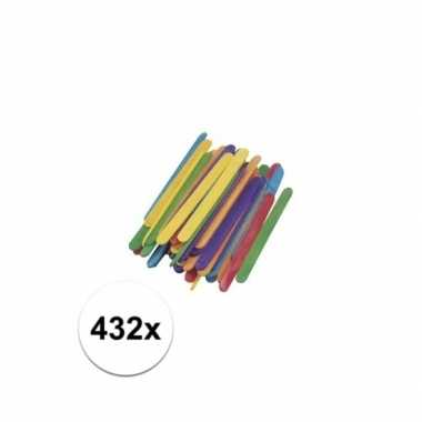 Gekleurde ijsstokjes 11 cm 432 st