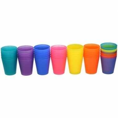 Gekleurde kinder limonade drinkbekers 100 ml 6 stuks