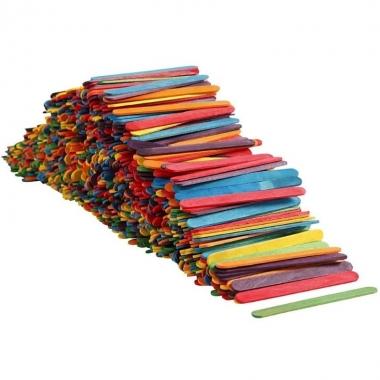 Gekleurde knutselstokjes1000 stuks