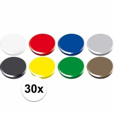 Gekleurde magneten setje 30 stuks