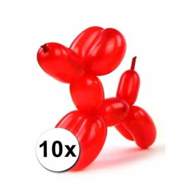 Gekleurde modelleerballonnetjes 10 stuks