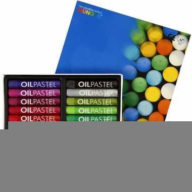 Gekleurde oliepastelkrijt 24 stuks