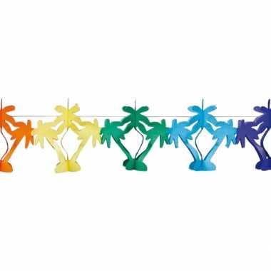 Gekleurde palmboom feestslinger