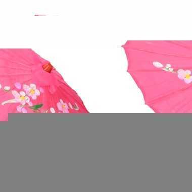 Gekleurde paraplu chinese stijl fuchsia