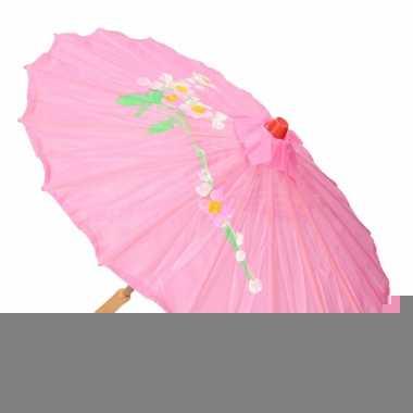 Gekleurde paraplu chinese stijl roze