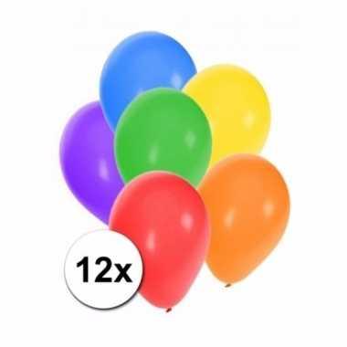 Gekleurde party ballonnen 12 stuks