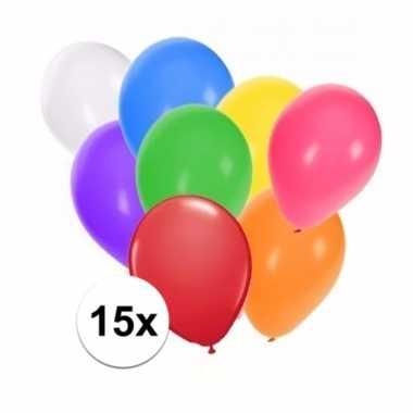 Gekleurde party ballonnen 15 stuks