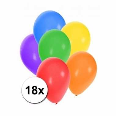 Gekleurde party ballonnen 18 stuks