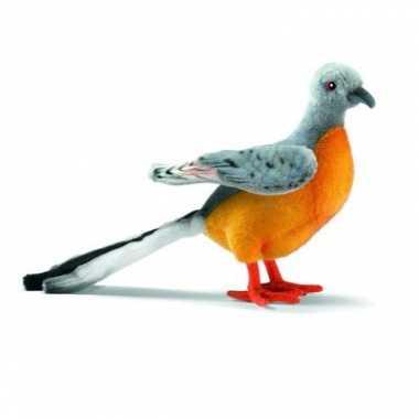 Gekleurde pluche duif 20 cm