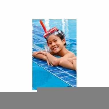 Gekleurde rode snorkelset voor kinderen 8+