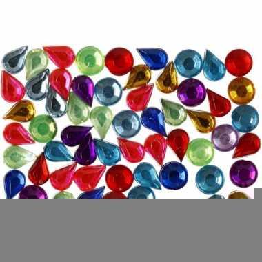 Gekleurde ronde en druppelvormige diamanten stenen 15 gr