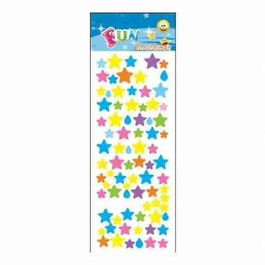 Gekleurde sterren stickervellen