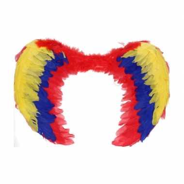 Gekleurde veren vleugels 60 cm