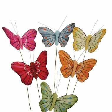 Gekleurde vlindertjes decoratie