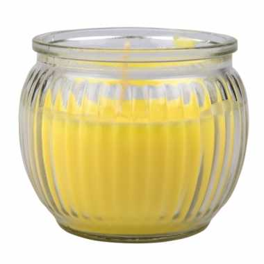 Gele citronella geur kaars