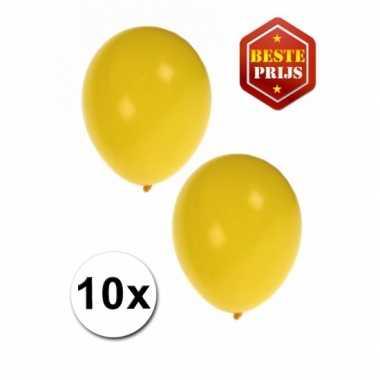 Gele decoratie ballonnen 10 stuks