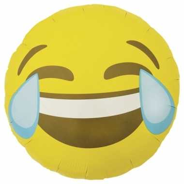 Gele emoticon folie ballon lol 46 cm