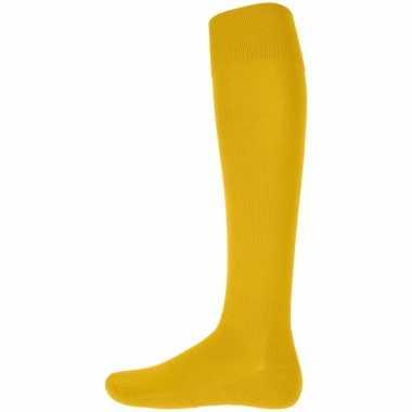 Gele kniekousen voor heren