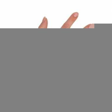 Gele korte visnet handschoenen voor volwassenen trend