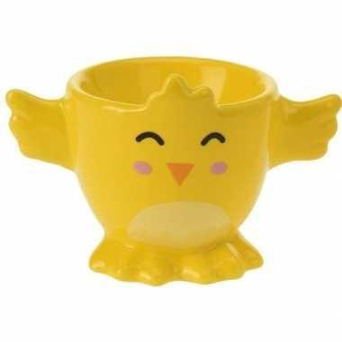 Gele kuiken/kippen eierdop 7 cm