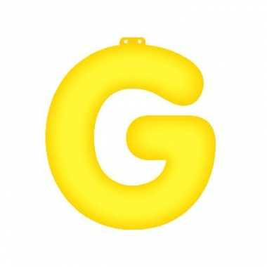 Gele letter g opblaasbaar