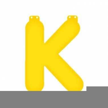 Gele letter k opblaasbaar