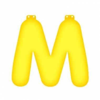 Gele letter m opblaasbaar