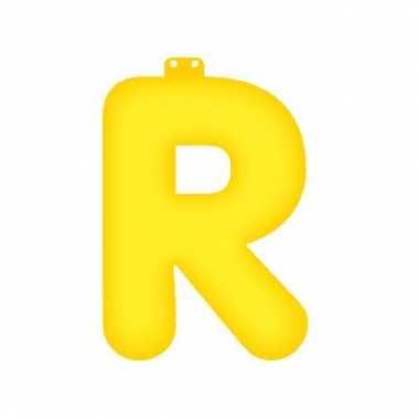 Gele letter r opblaasbaar