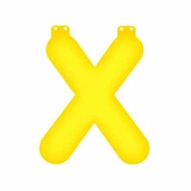 Gele letter x opblaasbaar