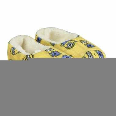 Gele minions kinder pantoffels