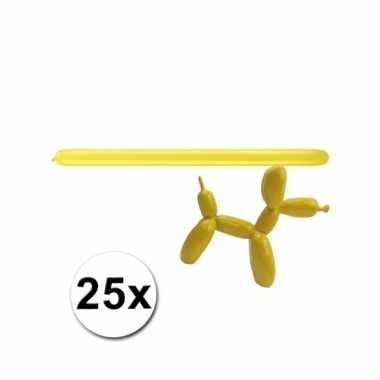 Gele modelleerballonnetjes 25 stuks