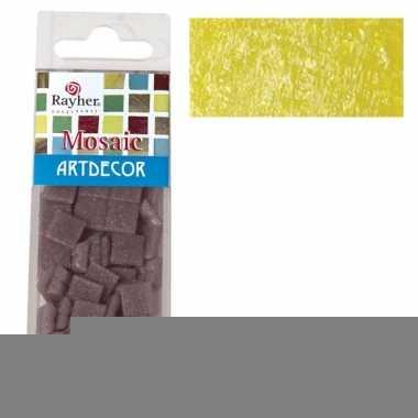Gele mozaiek steentjes 310 st