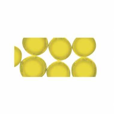Gele ronde mozaiek steentjes