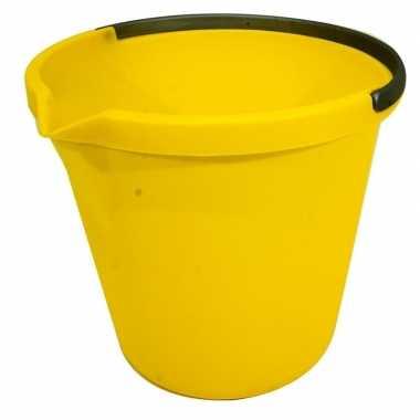 Gele schoonmaak emmer 10 liter