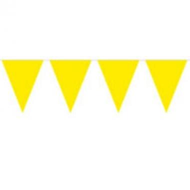 Gele slinger met vlaggetjes