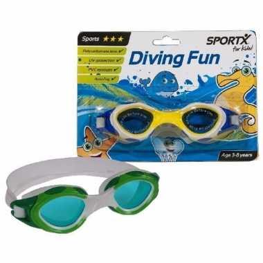 Gele sport duikbrillen 3-8 jaar