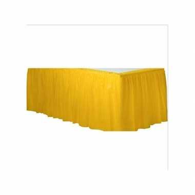 Gele tafelrokken