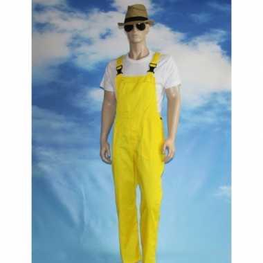 Gele tuinbroek overall voor volwassenen