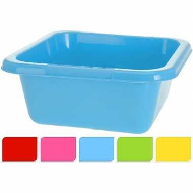 Gele vierkante afwasteil 15 l