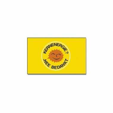 Gele vlag kernenergie nee bedankt