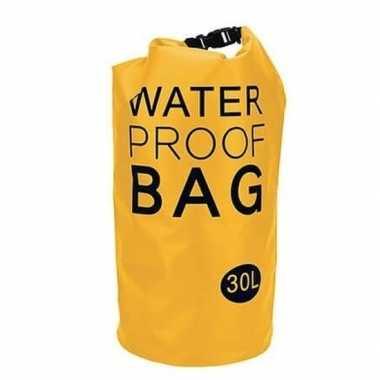 Gele waterdichte tas 30 liter