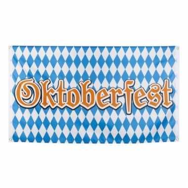 Geruite oktoberfest vlag 90x150 cm