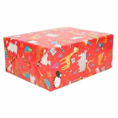 Geschenkpapier dieren design 70 x 200 cm