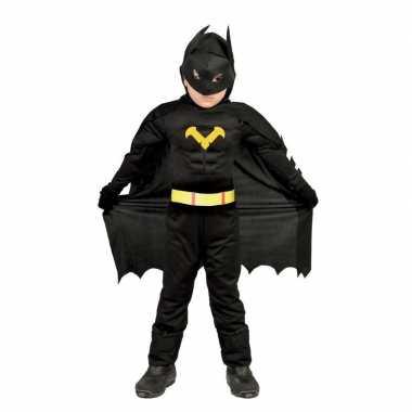 Gespierde vleermuisheld zwart verkleed kostuum voor jongens