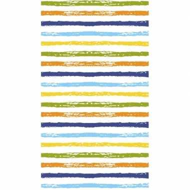 Gestreept tafellaken/tafelkleed 120 x 180 cm gekleurd