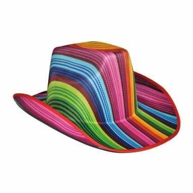 Gestreepte hoed in vrolijke kleuren